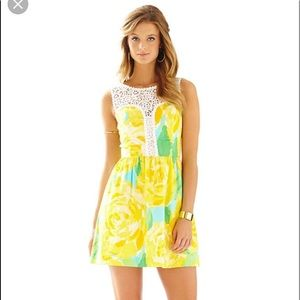 Lilly Pulitzer Yellow Rose Dress!